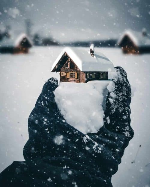 Surreal and beautiful photography and photoshop editing – Egzon Muliqi – Winter Home