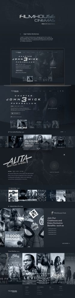 Filmhouse Interactive Web Design UI UX