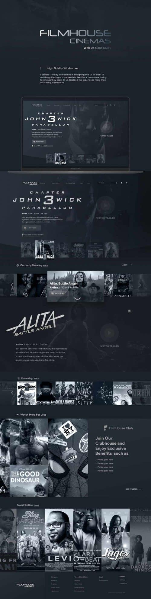 Filmhouse Interactive Web Design UI UX