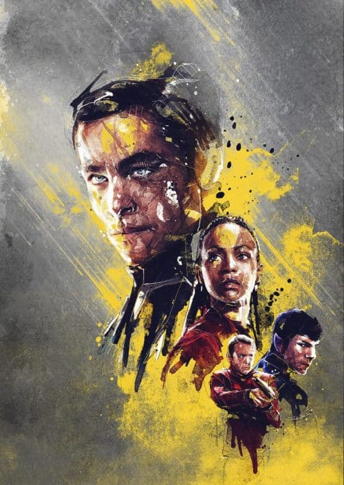 HBO Character Grunge Painting Illustrations – Star Trek