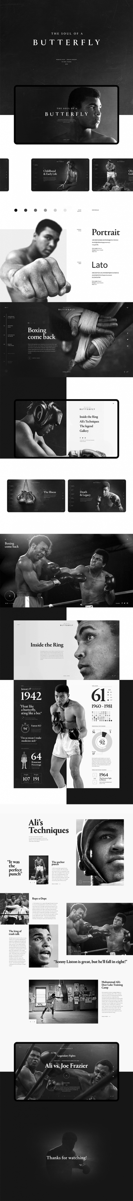 Raul Tejada – Muhammad Ali – The Soul of a Butterfly – UI UX