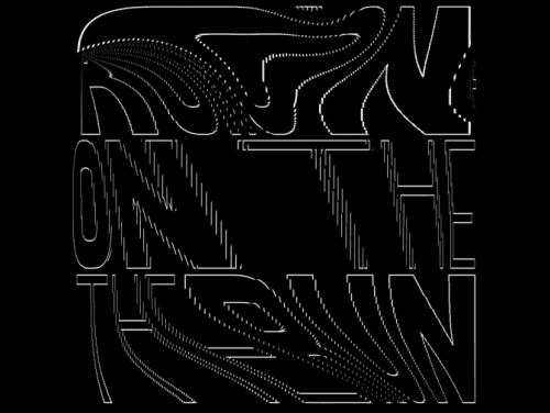 On the Run Motion Typography made with C4D 3D
