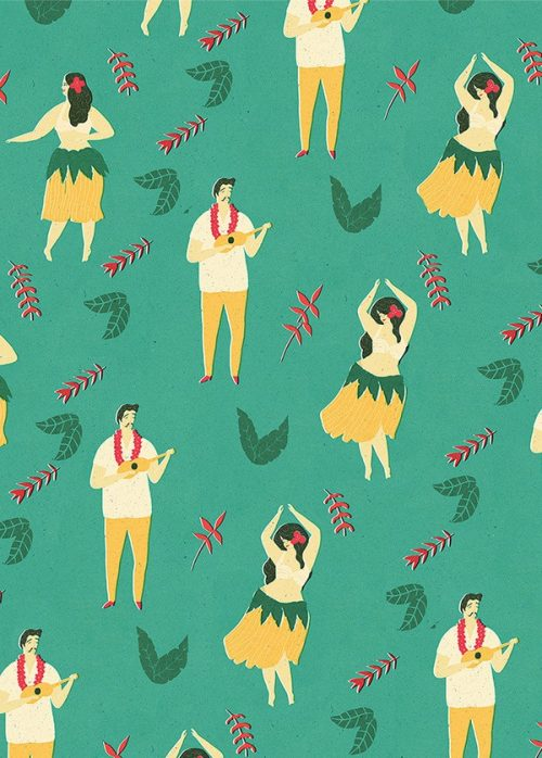 References | Hawaiian Luau Ukelele Pattern