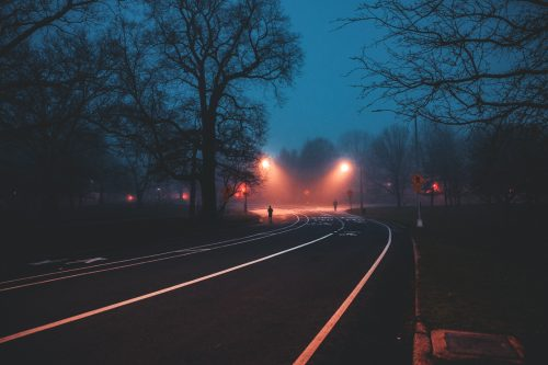 Night City Street Photography by Franck Bohbot – Park Road – Brooklyn, New York