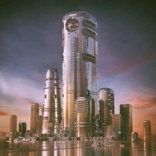 3D C4D | The Imaginative Futuristic and Surreal Worlds of Mike Winkelmann (Beeple) – Cityscape