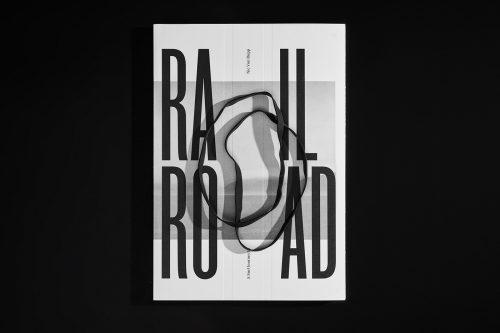 Minimal Black and White Typographic Poster Design – Rail Road