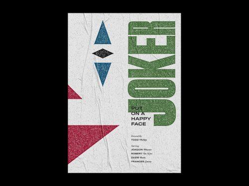 Minimal Poster Design | Joaquin Phoenix as Joker (2019)