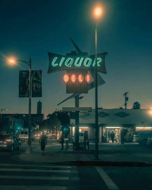 Photography by Franck Bohbot – L.A. Confidential – Liquor and Deli