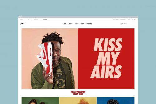 Typography   Integrated Type — Nike, Kiss My Airs