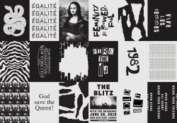 Rebelle Rebelle – Rock and Roll – Black and White Grunge Poster Design