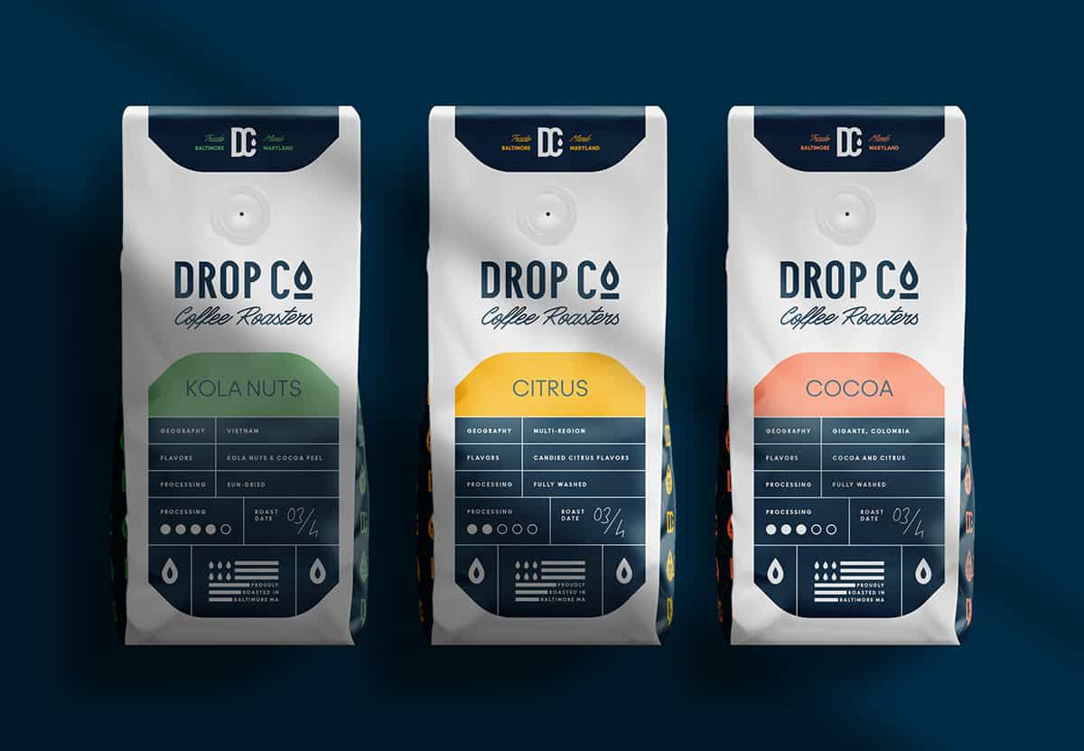 Design and Branding – Drop Co Coffee Roasters by Marka Network
