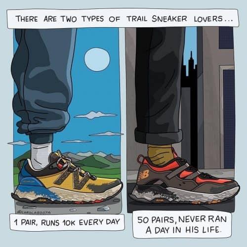 Laro Lagosta Illustration for High Snobiety – Trail Sneaker