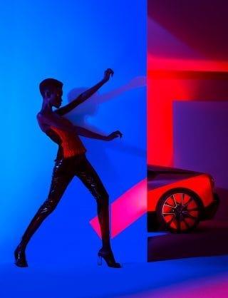 Creative Gel Lighted Fashion Car Photography