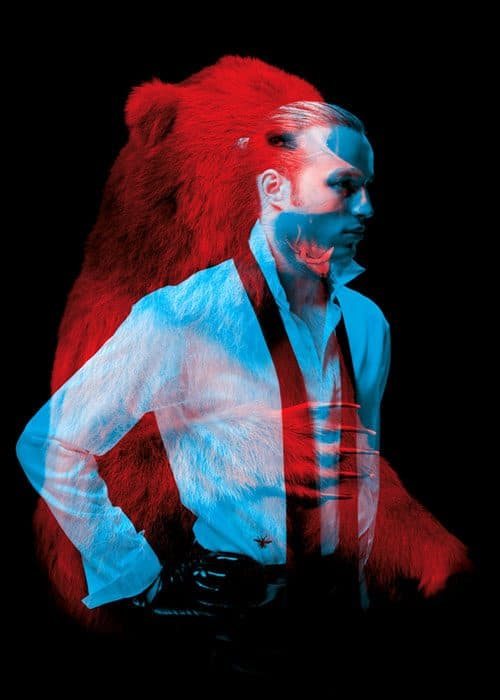 Double Exposure Fashion Portrait Photography Meets Wild Animals – Beasts of Fashion – ...
