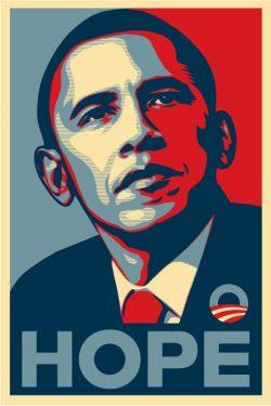 President Obama Hope Campaign Illustrated Poster Design
