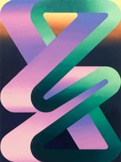 Dan Perkins – Geometric Gradient Luminous Light Illustrations