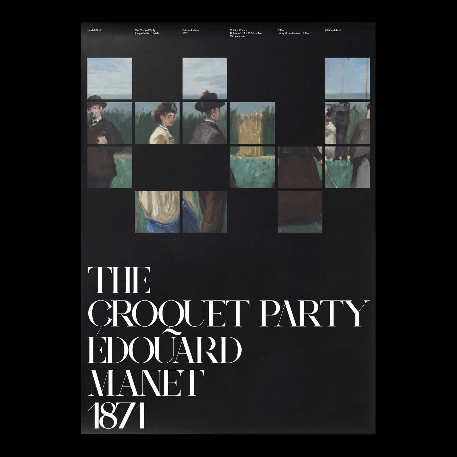 The Croquet Party Edouard Manet 1871 Minimal Poster Design