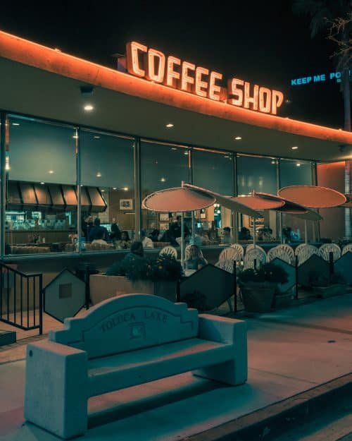 Photography by Franck Bohbot – L.A. Confidential – Coffee Shop