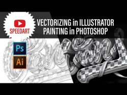 Vans Shoes Artwork – Vector Illustrator and photoshop painting – Speedart
