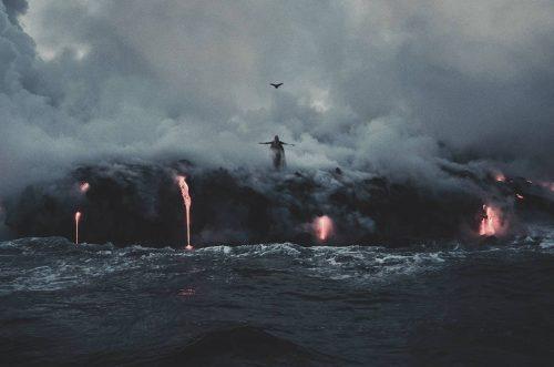 Stunning Surreal Photography Manipulation – Pulkit Kamal – Lava meets Ocean