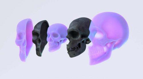 3D | Skull Render using Z Brush, C4D and Redshift