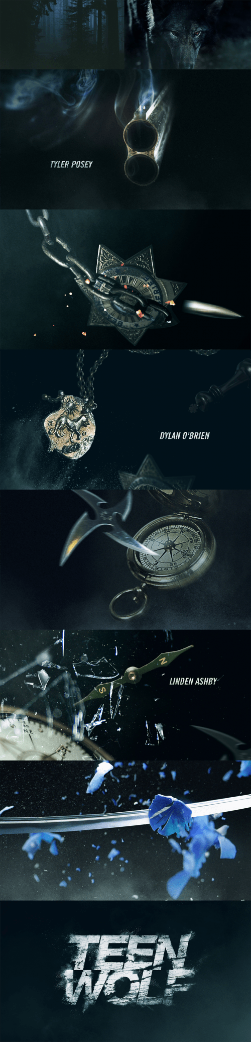 Teed Wolf Title Sequence Style Frames
