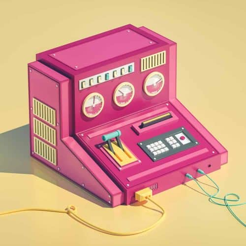 3D Illustrations by Sariselka – Retro Old School Computer