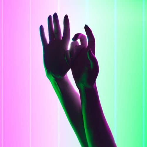 3D CGI Vaporwave Hands