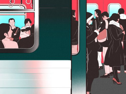 Beautiful Illustrations by South Korean illustrator Jee-ook Choi – Subway Train