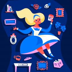 Vector Art Illustrations by Anna Hurley – Alice in Wonderland