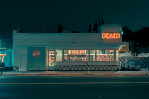 Photography by Franck Bohbot – L.A. Confidential – Peach Diner