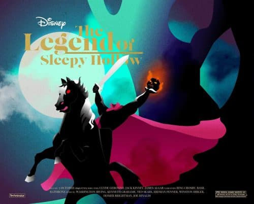 Disney's The Legend of Sleepy Hollow Illustrated Key Art by Chris Richards
