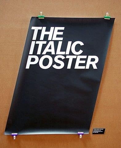 The Italic Poster Type Design