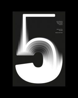 Number 5 Din Next LT Pro Typography Poster Design