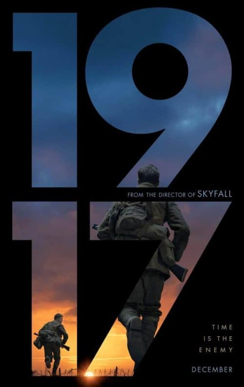 Sam Mendes' '1917' World War 1 Official Movie Poster Key Art