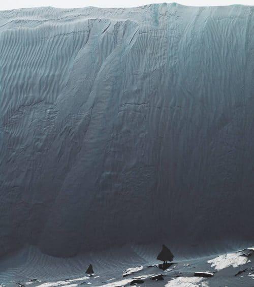 Stunning Surreal Photography Manipulation – Pulkit Kamal – Sea / Ice Wall