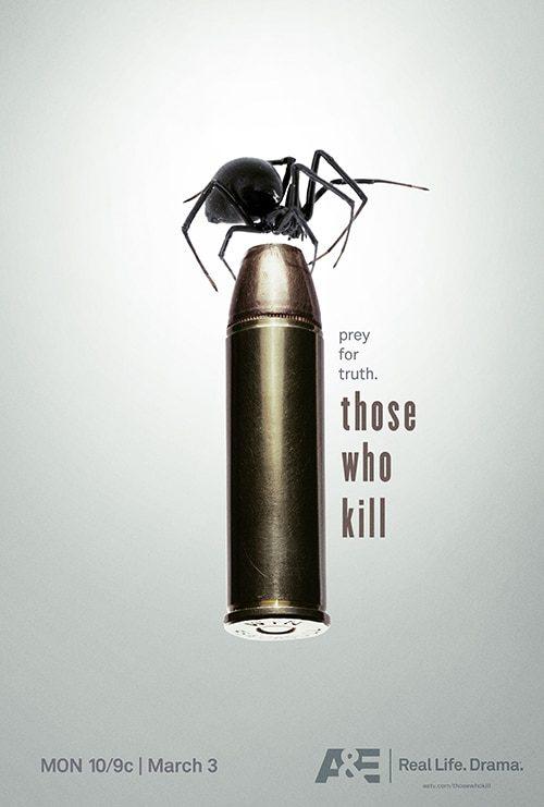 Key Art by Jason Burnam – Those Who Kill – Black Widow Spider on Bullet – Prey ...