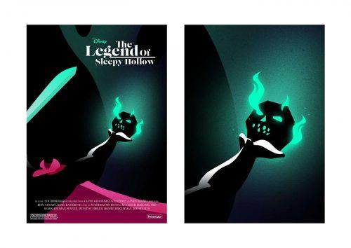 Disney's The Legend of Sleepy Hollow Illustrated Key Art by Chris Richards