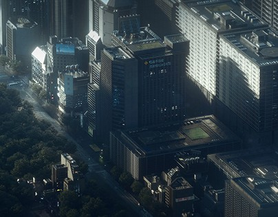 Jan Urschel – Futuristic World – Concept Art – Cities
