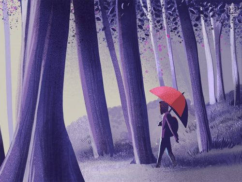 RANGANATH KRISHNAMANI – Illustrations – Bangalore, India – A stroll in the forest