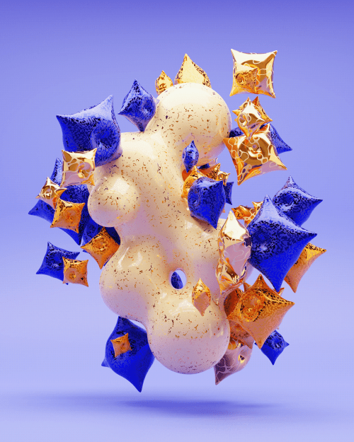 David Glissman – 3D Abstract Shapes with Spikes