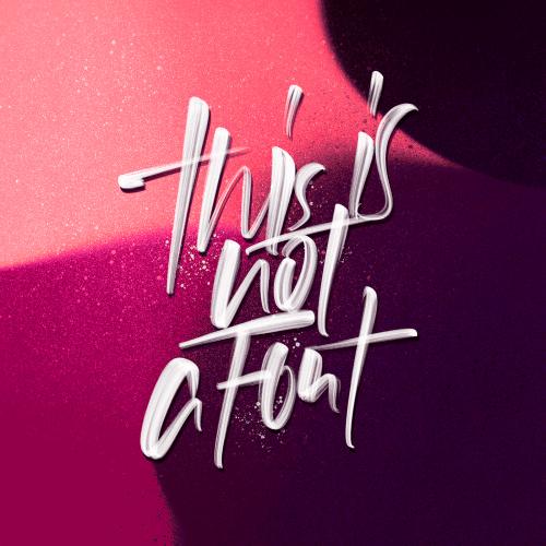 David Glissman – Handwritten Script on iPad – This is not a font