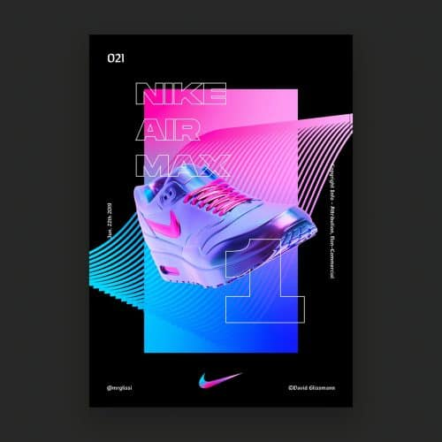 David Glissman Typographic Gradient Poster Design