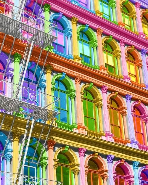 Ramzy Masri – Vibrant Rainbow Spectrum Edits – Building Facade