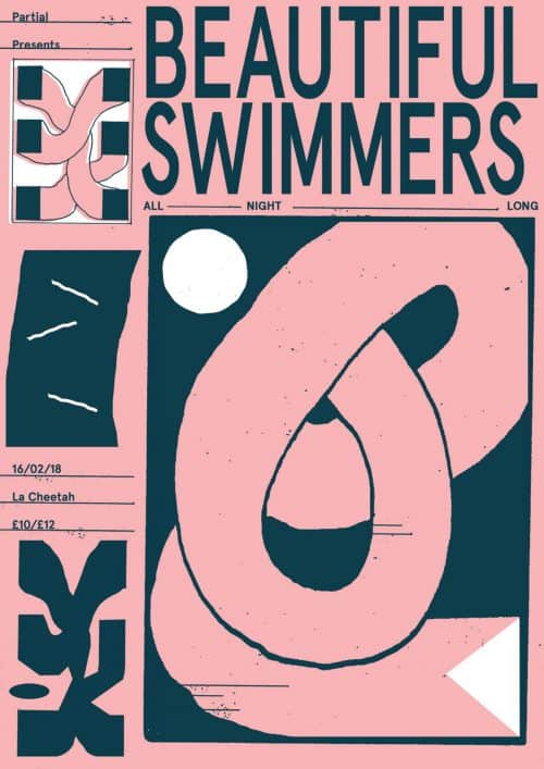 Graphic Design – Al White – Typographic Concert Poster – Beautiful Swimmers