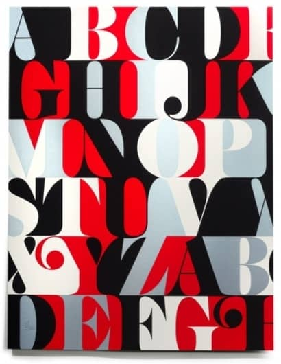 Retro Typographic Serif Alphabet Poster Design