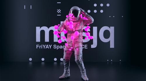 3D Digital Art – Astro and the Universe – Vaporwave Space Astronaut Art Renders
