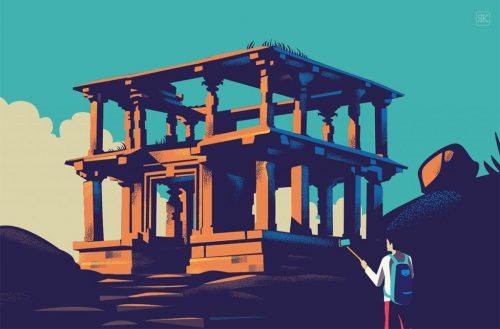 RANGANATH KRISHNAMANI – Illustrations – Bangalore, India – Temple