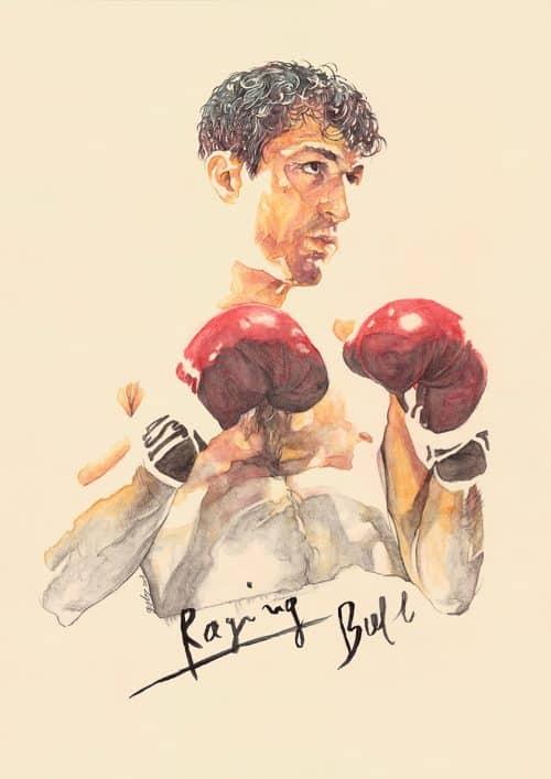 Raging Bull — Movie Poster Illustration — Grzegorz Domaradzki
