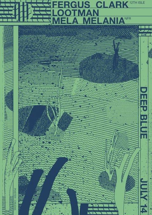 Graphic Design – Al White – Typographic Concert Poster – Deep Blue
